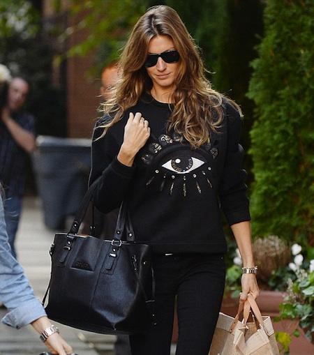 Gisele-Bundchen-Style-Kenzo-Sweatershirt-Black-Jeans-01